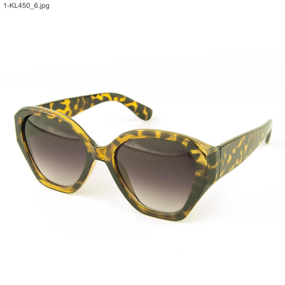 Оптом стильные женские солнцезащитные очки - Леопардовые - 1-КL450