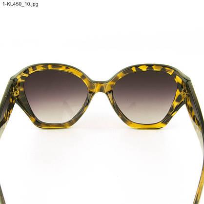 Оптом стильные женские солнцезащитные очки - Леопардовые - 1-КL450, фото 3
