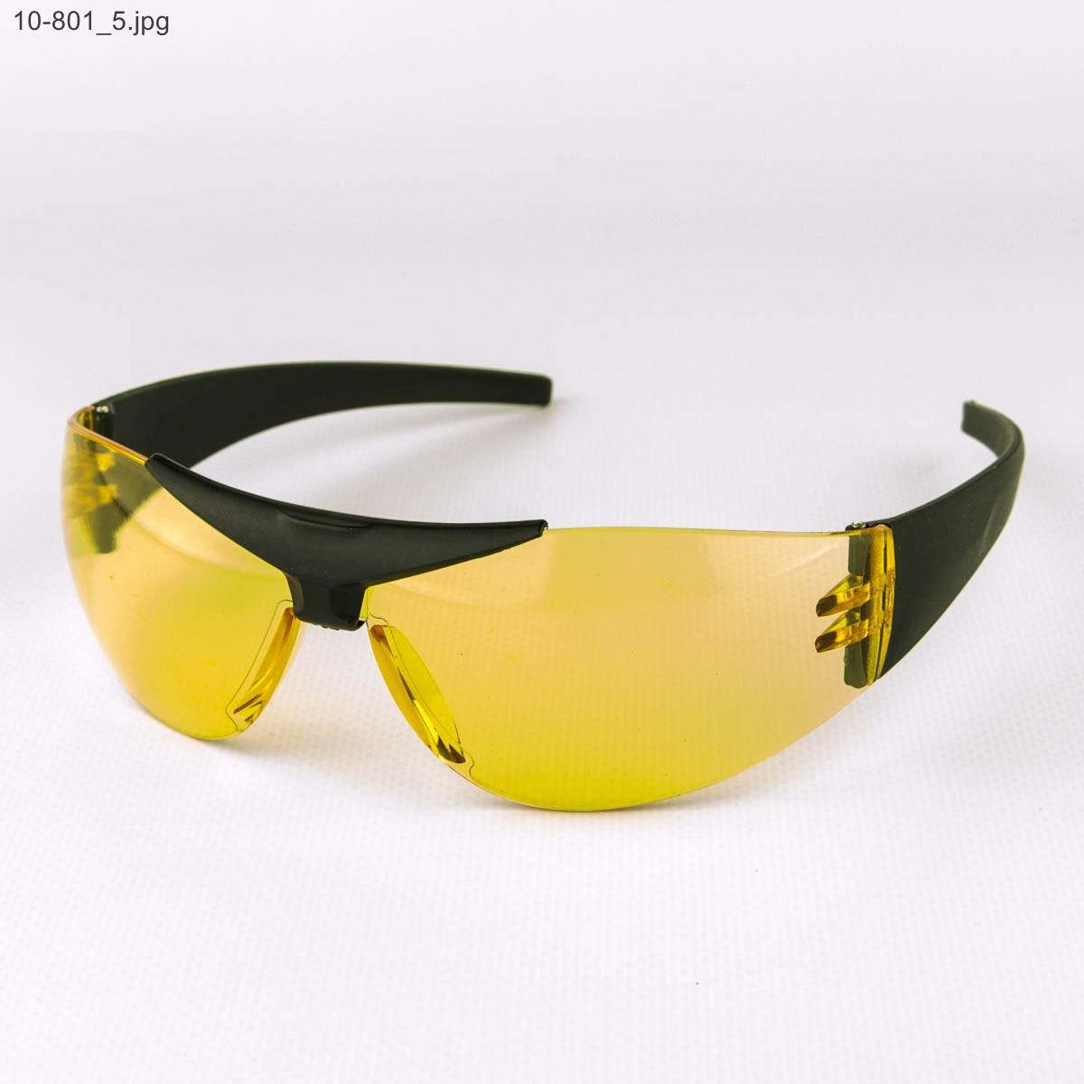 Оптом очки мужские спортивные - черные с желтыми линзами - 10-8637