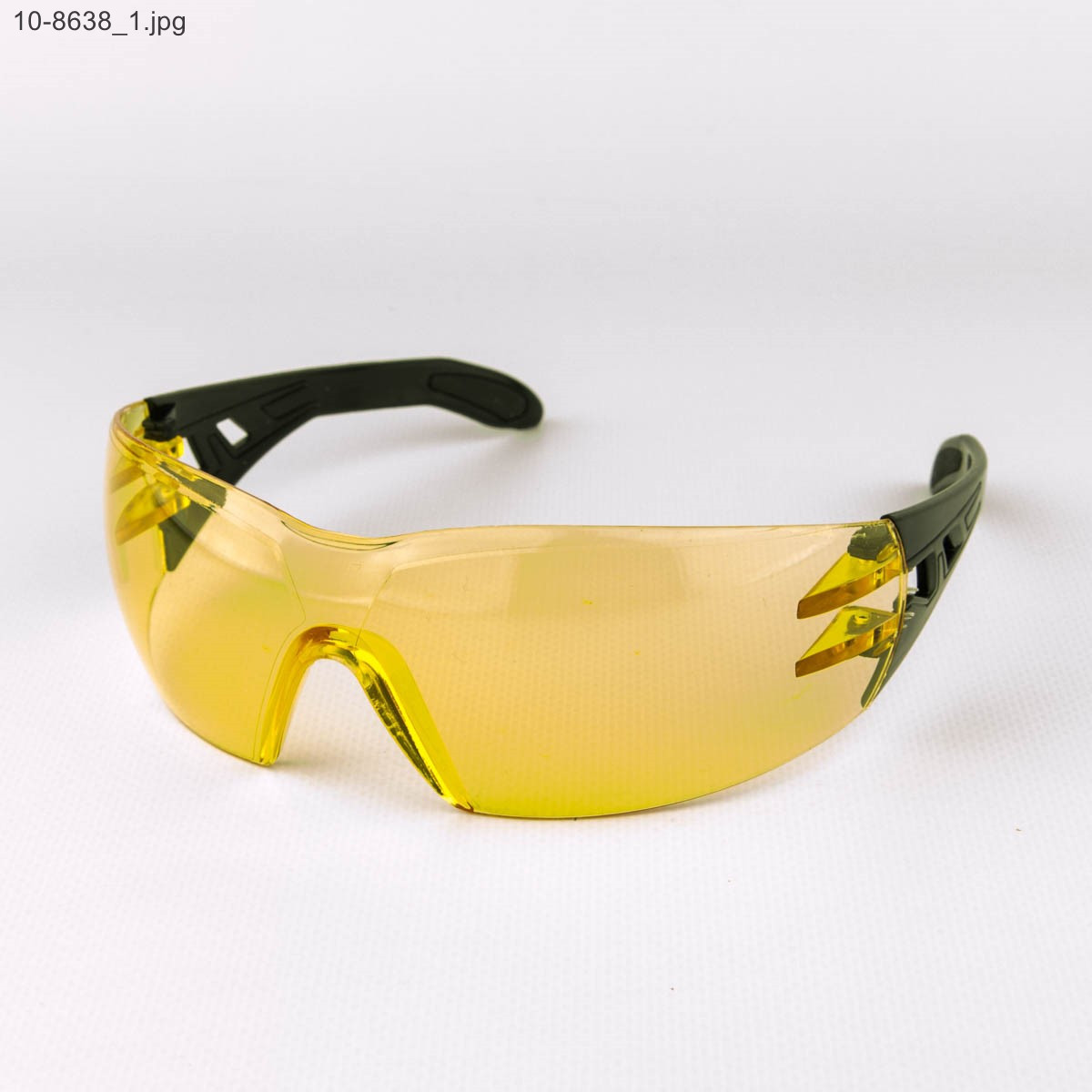 Оптом очки мужские спортивные - черные с желтыми линзами - 10-8638