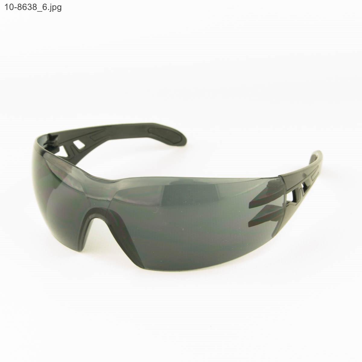 Оптом очки мужские спортивные - черные с черными линзами - 10-8638
