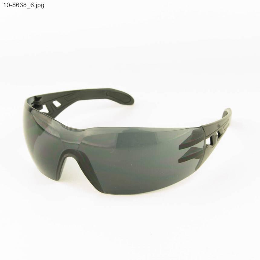 Оптом очки мужские спортивные - черные с черными линзами - 10-8638, фото 2