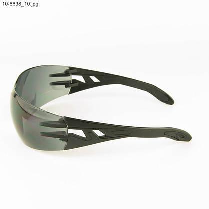 Оптом очки мужские спортивные - черные с черными линзами - 10-8638, фото 3