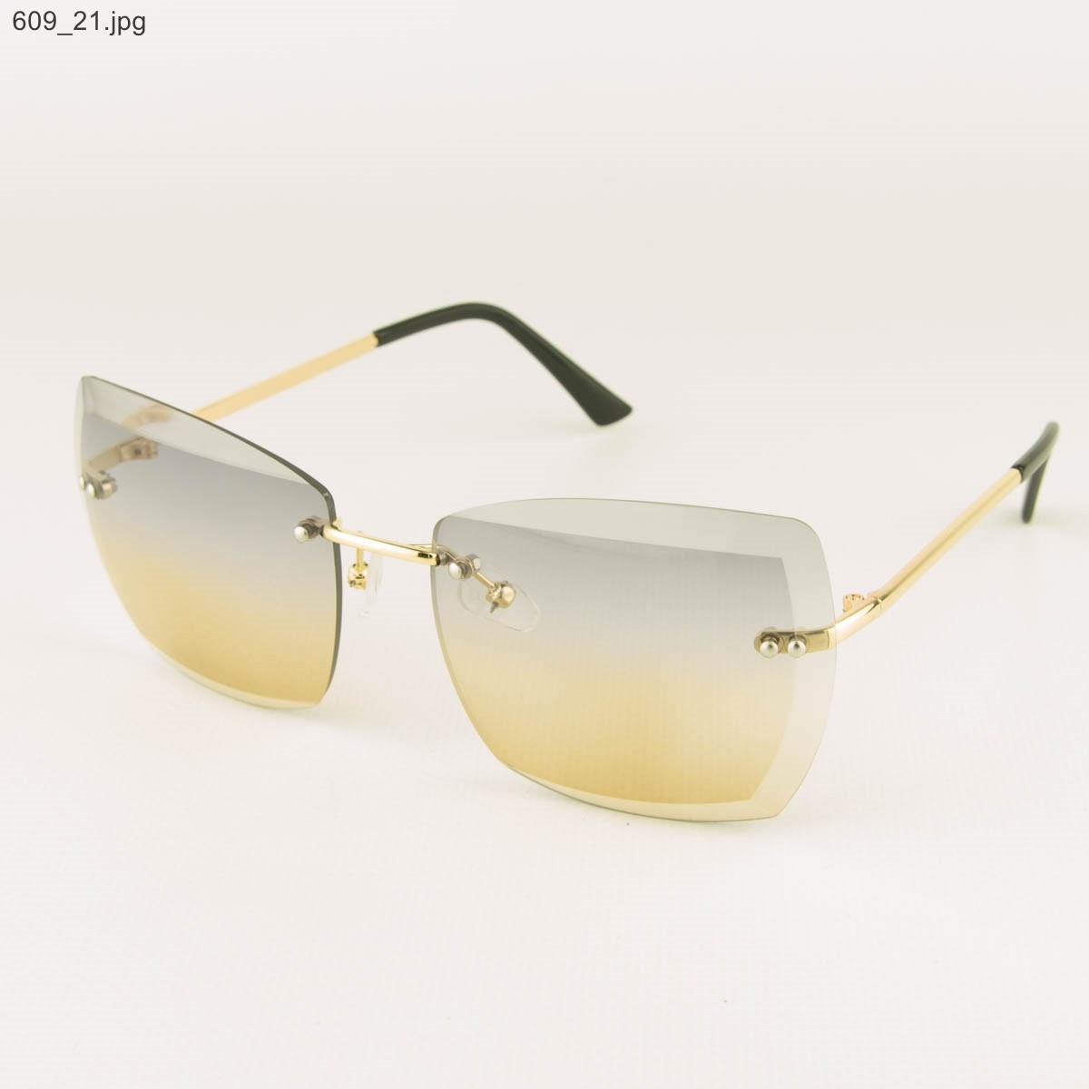 Оптом солнцезащитные квадратные очки с цветными линзами - 609