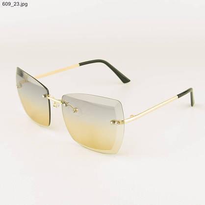 Оптом солнцезащитные квадратные очки с цветными линзами - 609, фото 3