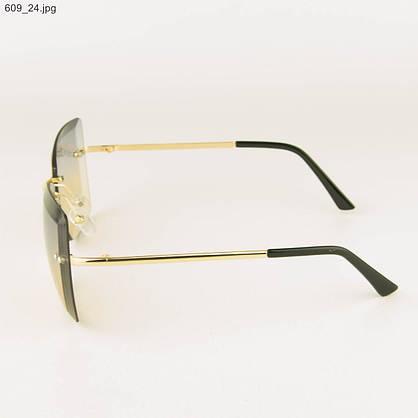 Оптом солнцезащитные квадратные очки с цветными линзами - 609, фото 2