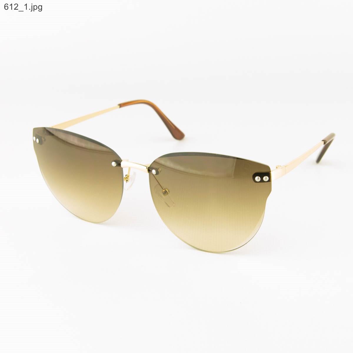 Оптом женские очки солнцезащитные - Коричневые - 612