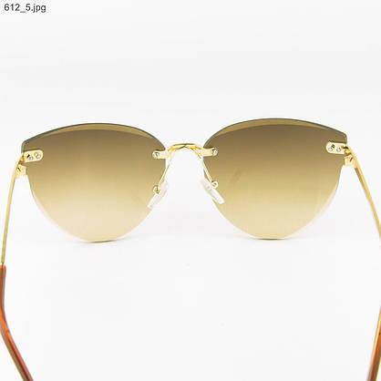 Оптом женские очки солнцезащитные - Коричневые - 612, фото 3
