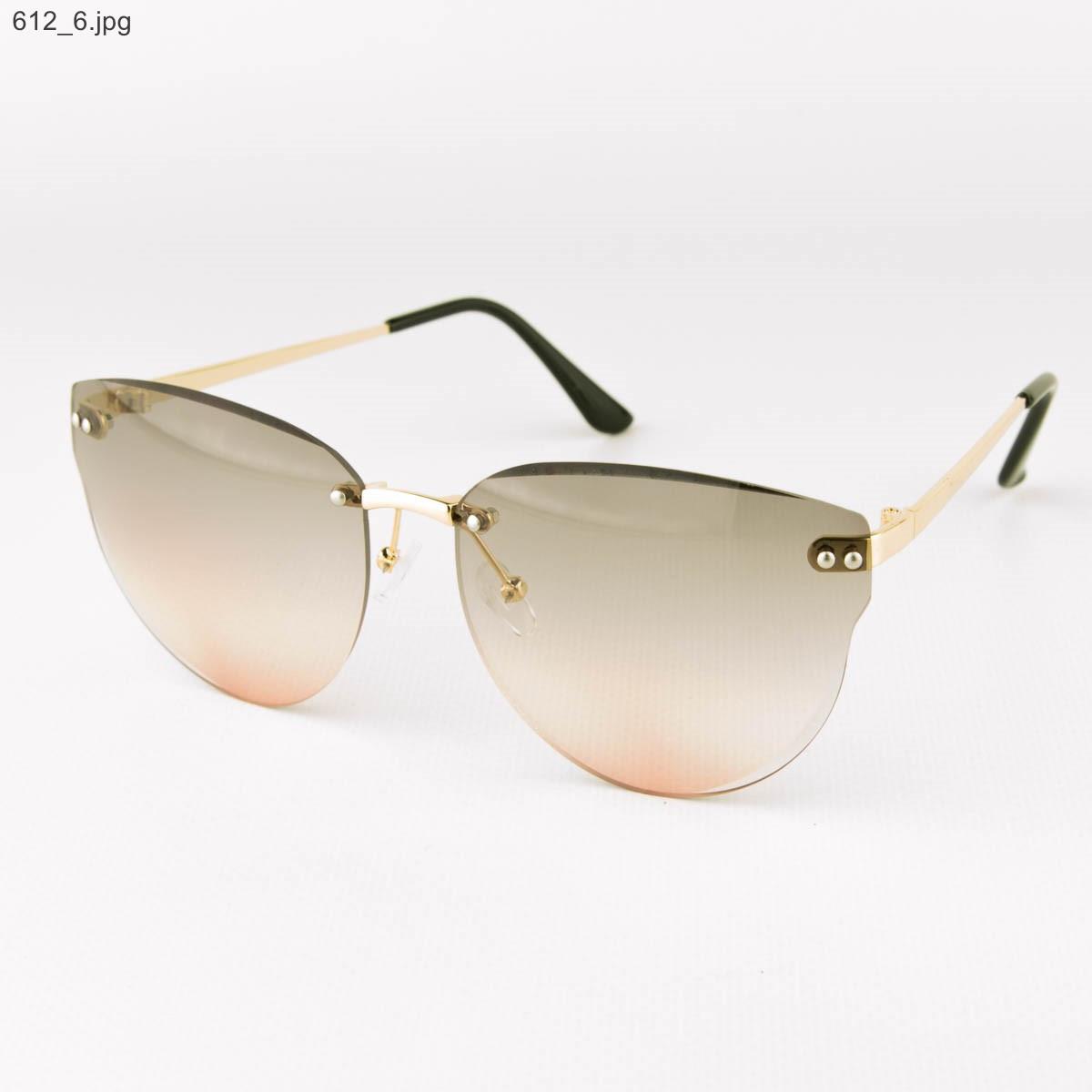 Оптом женские очки солнцезащитные - Серо-розовые - 612
