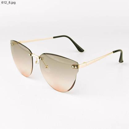 Оптом женские очки солнцезащитные - Серо-розовые - 612, фото 3