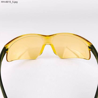 Оптом мужские очки черные с желтыми линзами - НН-8615, фото 3