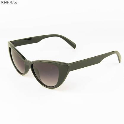 Оптом очки солнцезащитные женские кошачий глаз - Черные - К249, фото 3