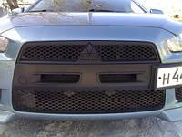 "Тюнинг Mitsubishi Lancer X накладка на бампер ""ноздри"""