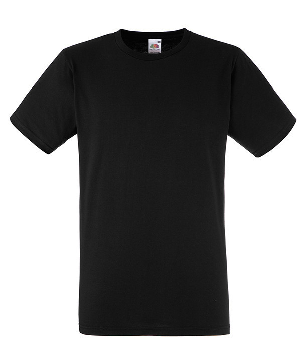 Мужская футболка приталенная L, 36 Черный