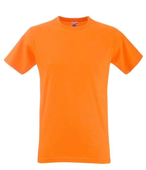 Мужская футболка приталенная XL, 44 Оранжевый