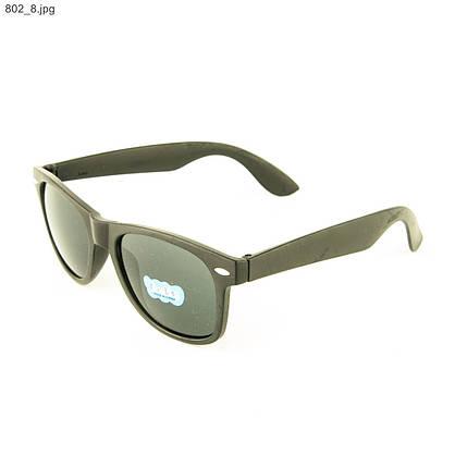 Оптом солнцезащитные очки Wayfarer - Черные - 802, фото 3