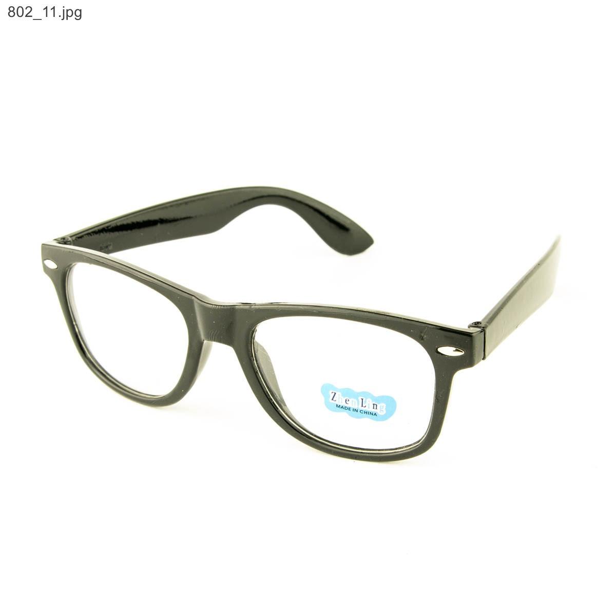 Оптом имиджевые очки Wayfarer - Черные - 802