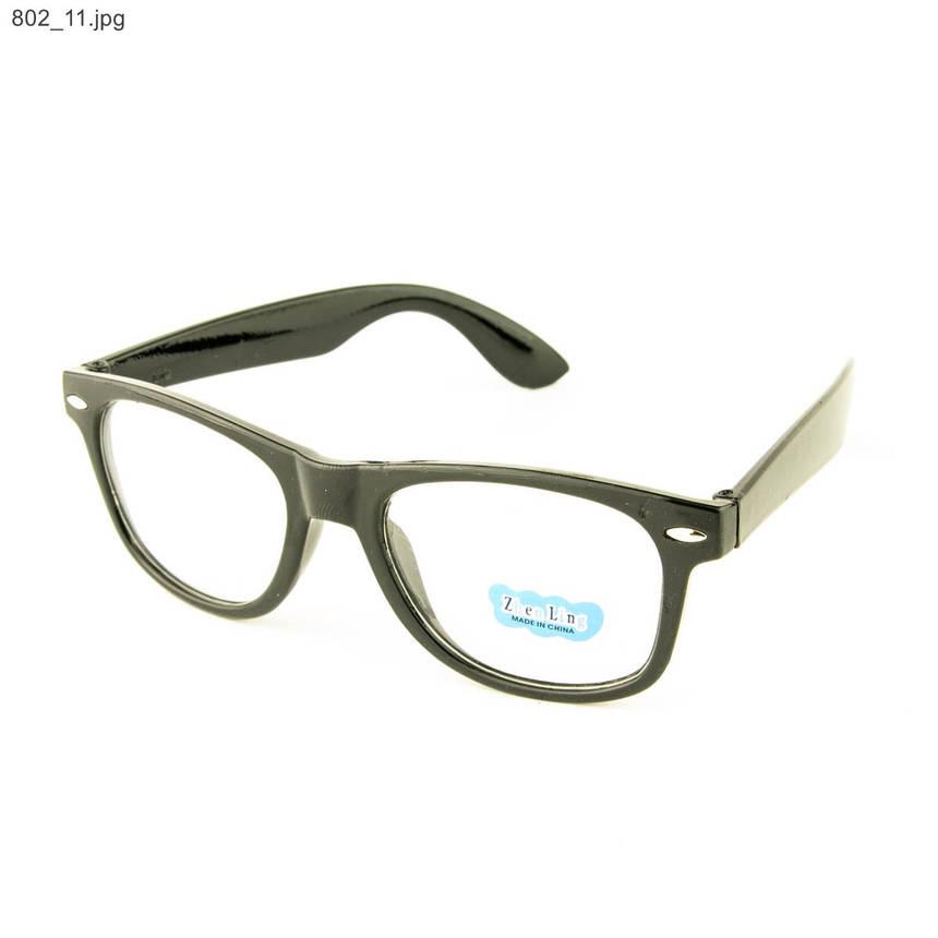 Оптом имиджевые очки Wayfarer - Черные - 802, фото 2
