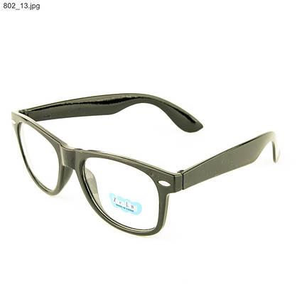 Оптом имиджевые очки Wayfarer - Черные - 802, фото 3