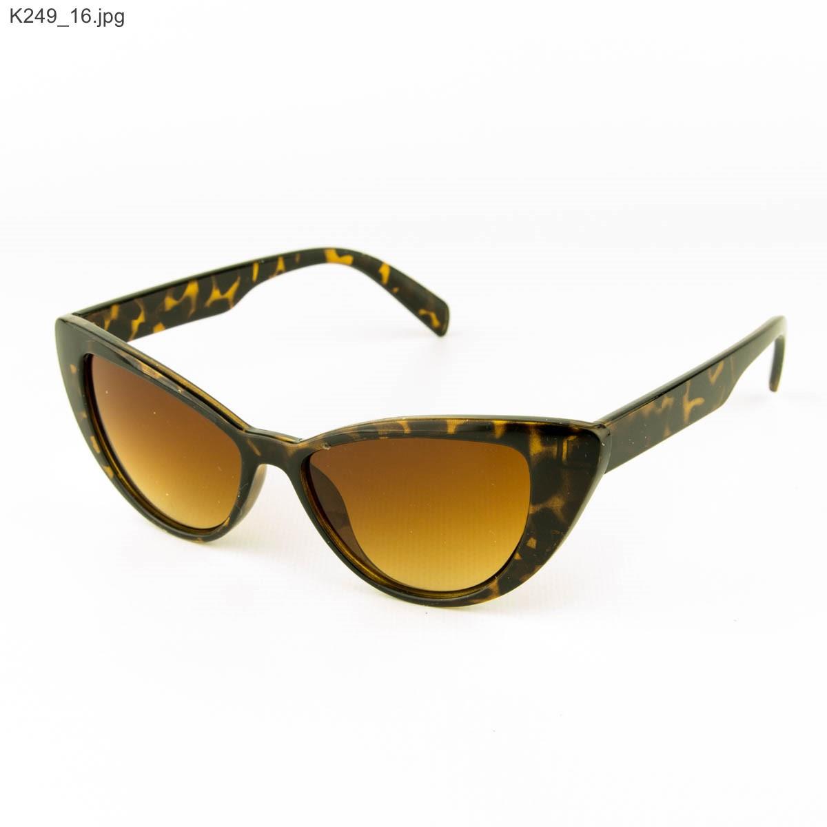 Оптом очки солнцезащитные женские кошачий глаз - Леопардовые - К249