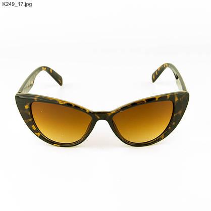Оптом очки солнцезащитные женские кошачий глаз - Леопардовые - К249, фото 2