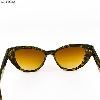Оптом очки солнцезащитные женские кошачий глаз - Леопардовые - К249, фото 3