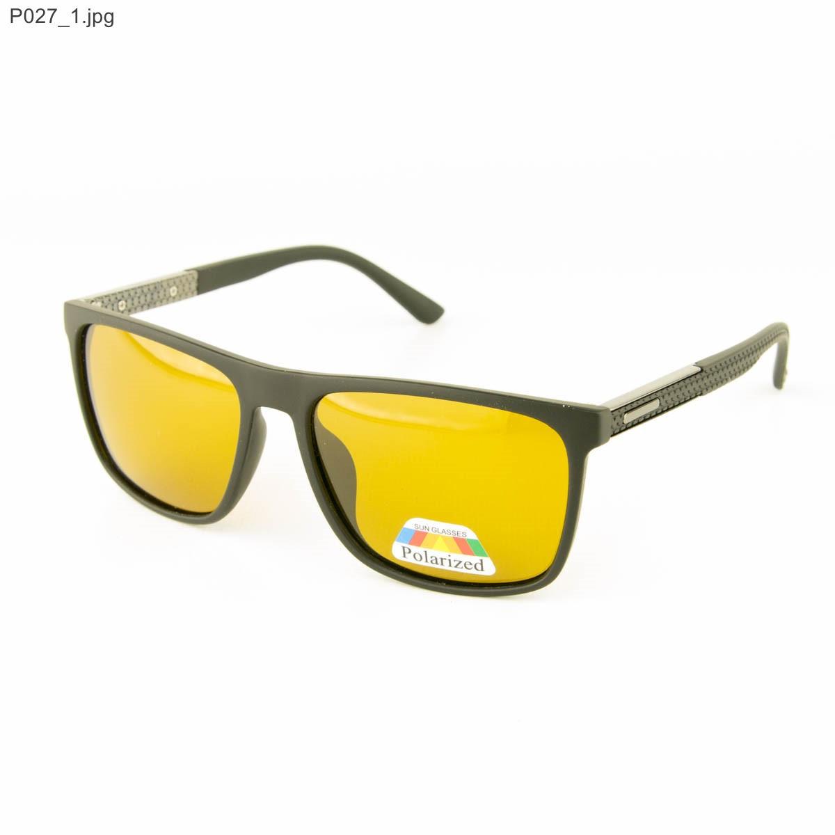 Оптом мужские очки для водителей Polarized с желтыми линзами - P027