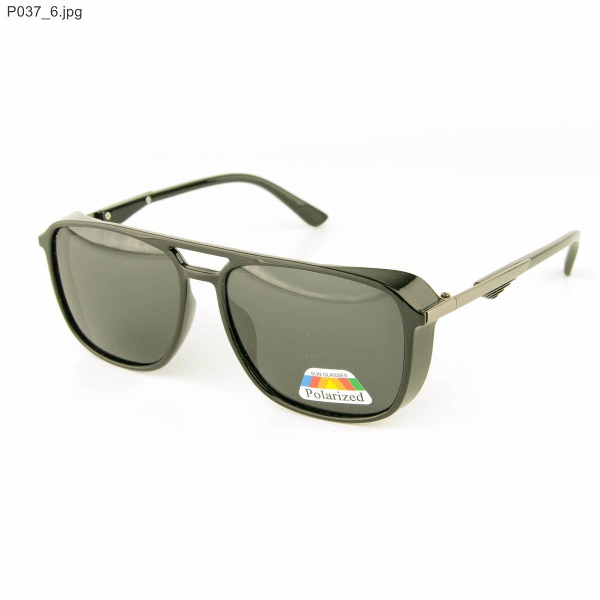 Оптом очки мужские солнцезащитные поляризационные - Черные - P037