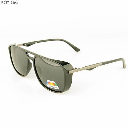 Оптом очки мужские солнцезащитные поляризационные - Черные - P037, фото 3