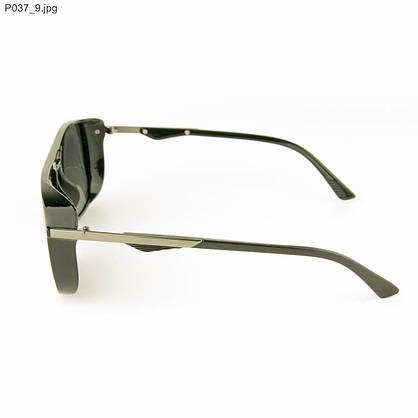 Оптом очки мужские солнцезащитные поляризационные - Черные - P037, фото 2