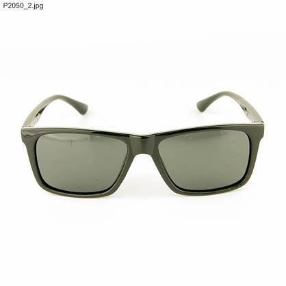 Оптом мужские солнцезащитные очки поляризационные - Черные - P2050, фото 2