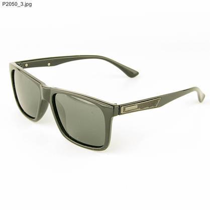 Оптом мужские солнцезащитные очки поляризационные - Черные - P2050, фото 3