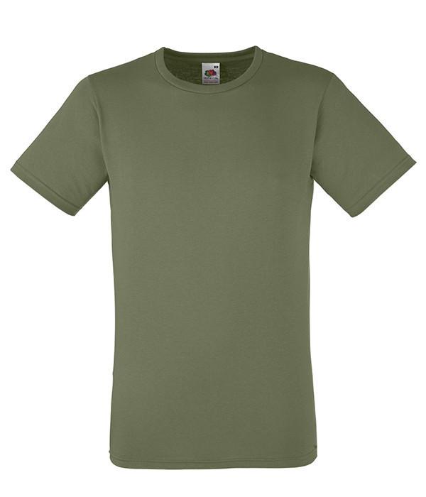 Мужская футболка приталенная 2XL, 59 Оливковый