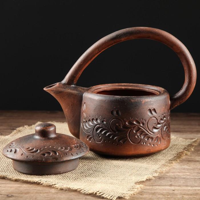 """Чайник глиняный """"Red Clay"""" 1 л"""