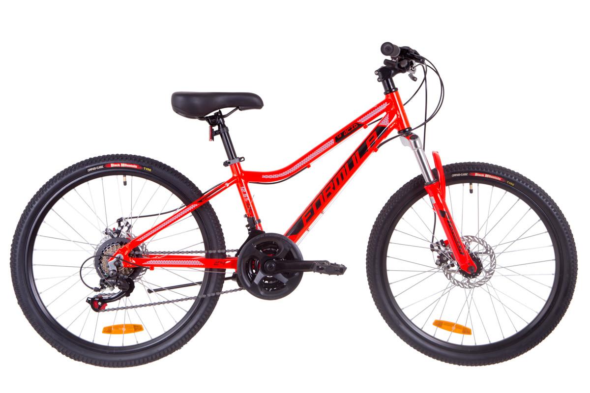 """Велосипед подростковый 24"""" Formula ACID 1.0 DD 2019 (красно-черный с синим)"""