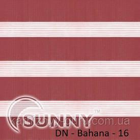 Рулонные шторы для окон День Ночь в закрытой системе Sunny с П-образными направляющими, ткань DN-Bahama - 2