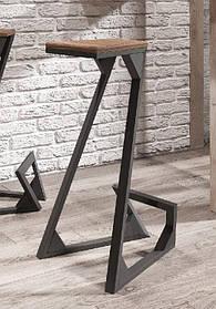Барный стул Зетт основание ДСП черный бархат   Металл-дизайн