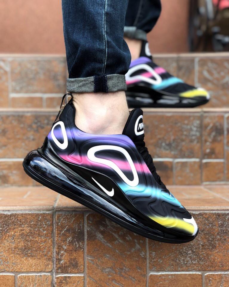 "Кроссовки Nike Air Max 720 Black Colorful ""Черные"""