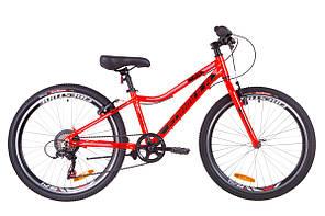 """Велосипед подростковый 24"""" Formula ACID 1.0 rigid 2019 (красно-черный с синим)"""