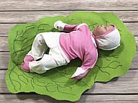 """Ошатний трикотажний набір для немовляти з 3 предметів """"Малятко"""", фото 1"""