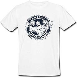Чоловіча футболка Serious Bodybuilding (біла)