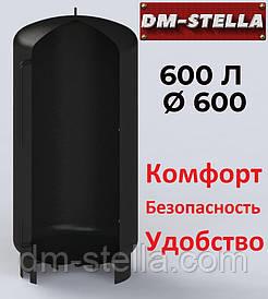 Буферная емкость (теплоаккумулятор) 600 литров, Ø 600 мм, сталь 3 мм