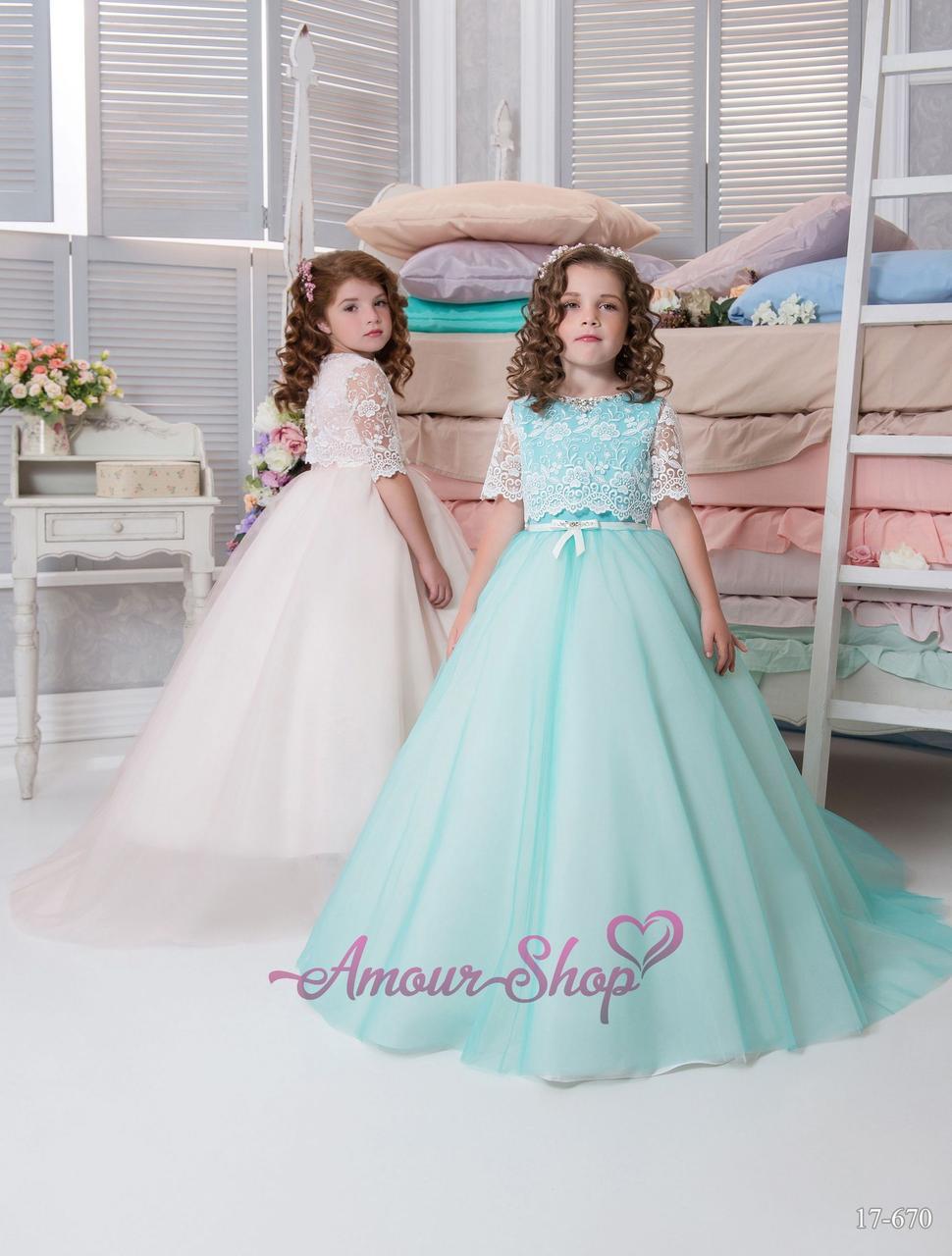 Детское нарядное платье с кружевным болеро (выпускной, конкурс, фотосессия, день рождения)