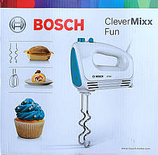 Миксер Bosch MFQ 2210D CleverMixx Fun (венчики, крюки для теста)
