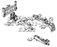 Компоненты экскаватора на Hidromek 102B