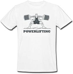 Чоловіча футболка Powerlifting (біла)