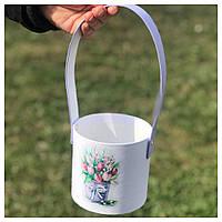 """Корзинка для цветов """"Тюльпаны"""" 11*10 см"""