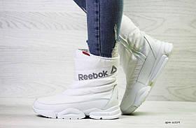 Женские белые дутики Reebok 6559