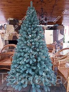 Литая елка Буковельская 2.30м.голубая.+гирлянда в подарок.