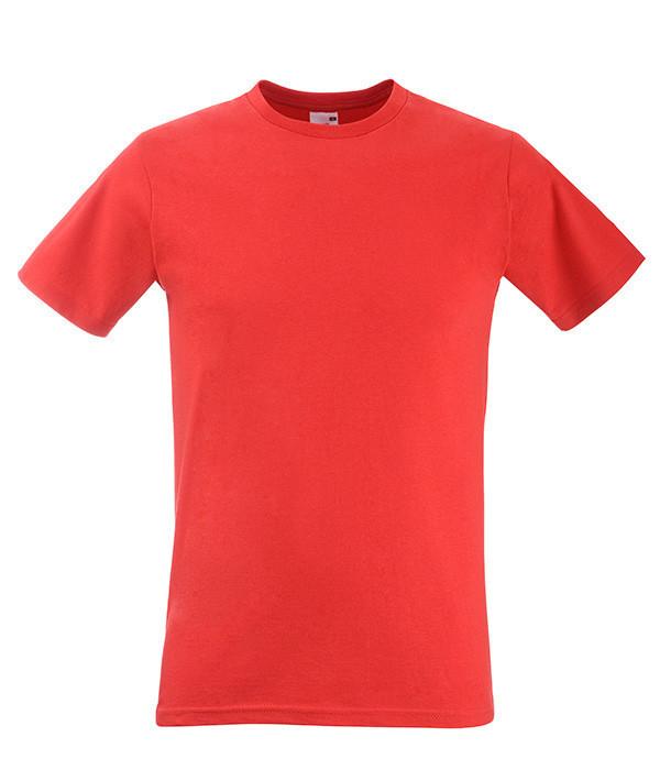 Мужская футболка приталенная M, 40 Красный